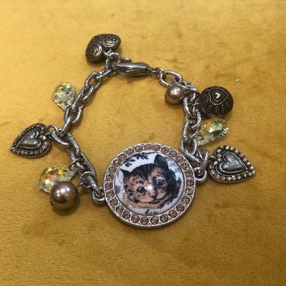 Tarina Tarantino Cheshire Cat Charm Bracelet